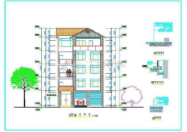 旅馆建筑设计平面图_[建筑设计图纸]5层小旅馆建筑设计图纸(含设计说明) - 土木在线