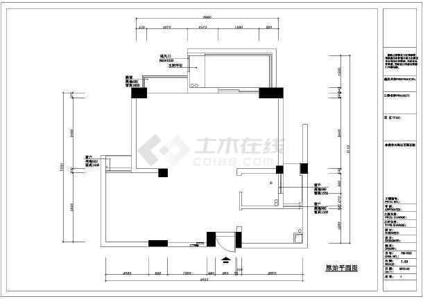 某小区住宅装修设计施工cad图纸-图1