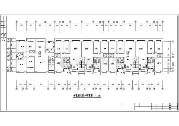 【天津】某地住宅楼给排水设计图纸-图2