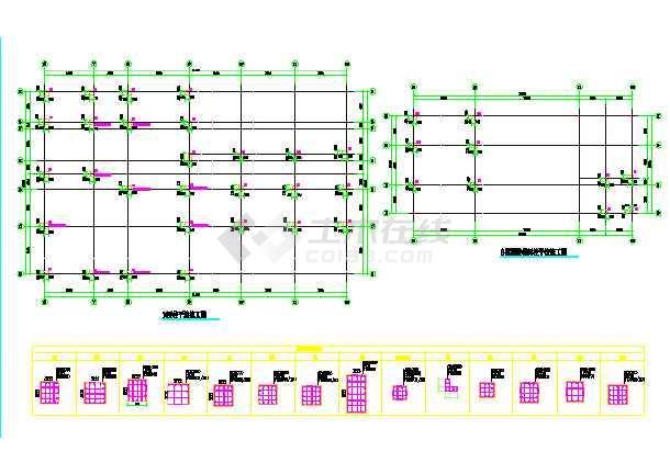 十层框架结构医院设计施工cad图(基坑开挖cad)-图1
