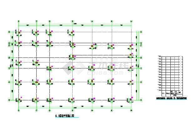 十层框架结构医院设计施工cad图(基坑开挖cad)-图3