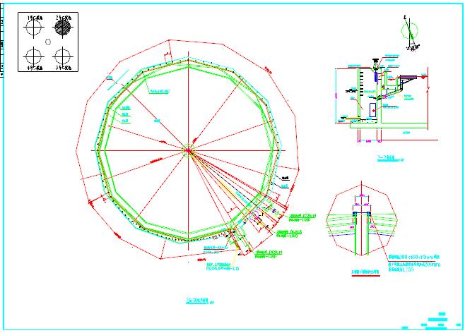 某市二沉池工艺施工图(6万吨、天)图片1