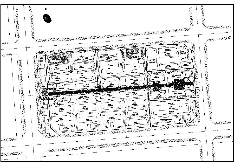 江苏省某地区厂房规划设计总平面图图片1