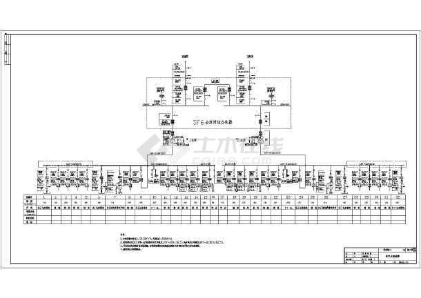 某工厂变电站升压改造设计CAD总图-图二