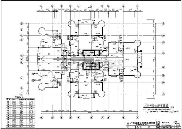 某二十层高层住宅建筑给排水施工图 带大地下室图片
