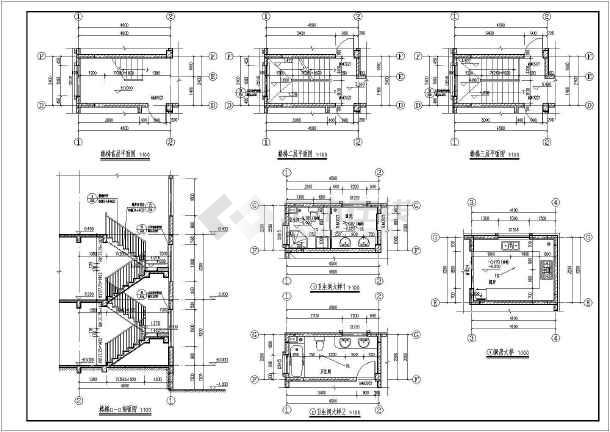 【江西】某地三层框架结构别墅建筑设计施工图-图1