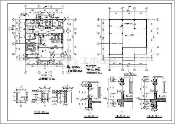 【江西】某地三层框架结构别墅建筑设计施工图-图2
