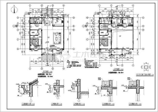【江西】某地三层框架结构别墅建筑设计施工图-图3
