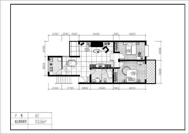 某地经典户型建筑图(含建筑面积)-图二