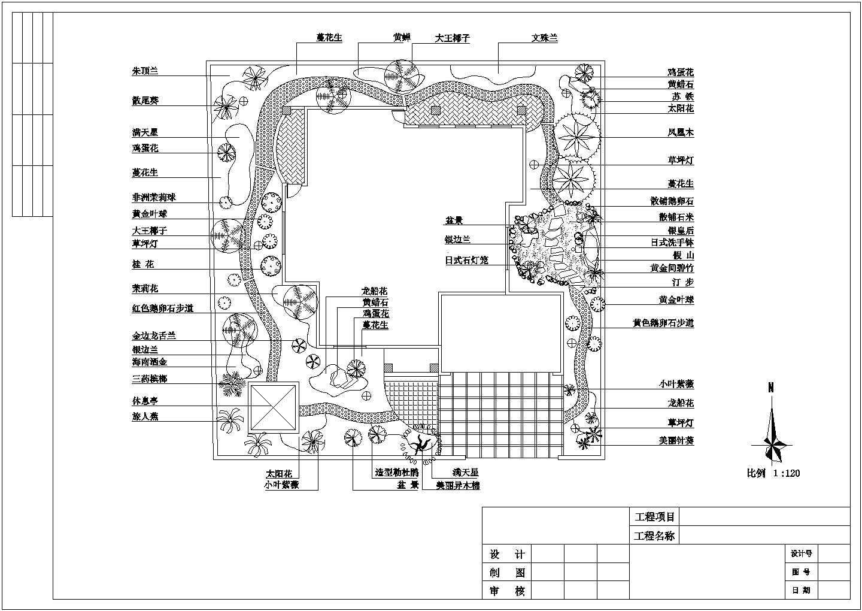 某地独栋别墅景观绿化设计平面施工图图片1