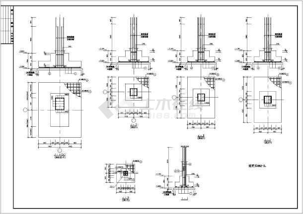 某压缩机厂房混凝土结构设计施工图纸-图1