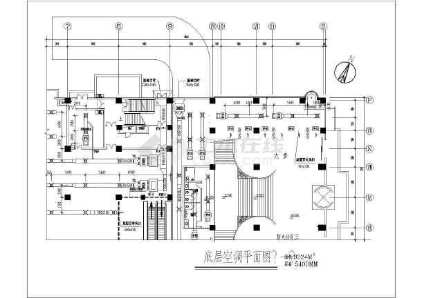 通风机价格_【超市空调通风】上海某大型超市空调通风全套施工图_cad图纸 ...