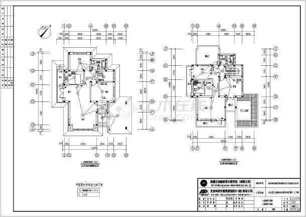 新疆某二层别墅建筑、结构施工图(含水电暖)-图1