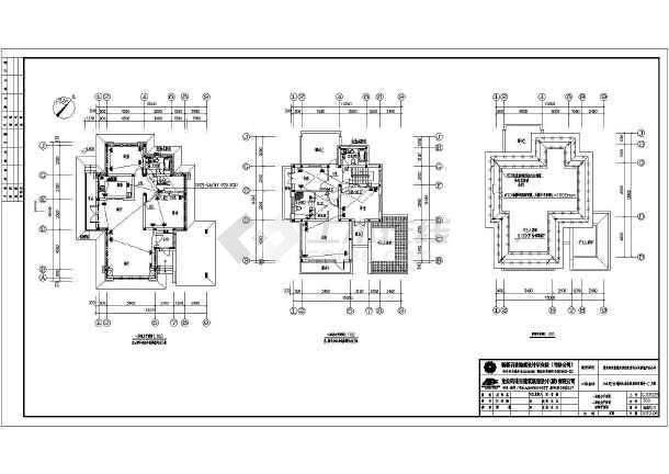 新疆某二层别墅建筑、结构施工图(含水电暖)-图2