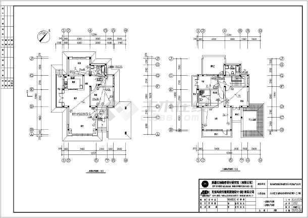 新疆某二层别墅建筑、结构施工图(含水电暖)-图3