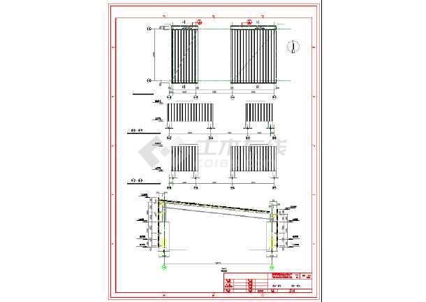 烟道改造混凝土框架施工图纸-图1