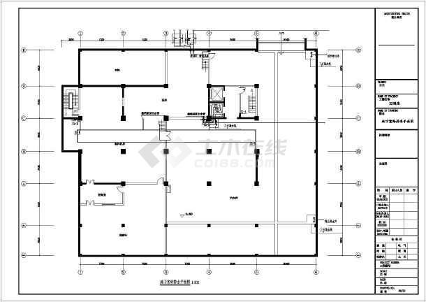 【安徽】某宾馆给排水设计详细图纸-图1