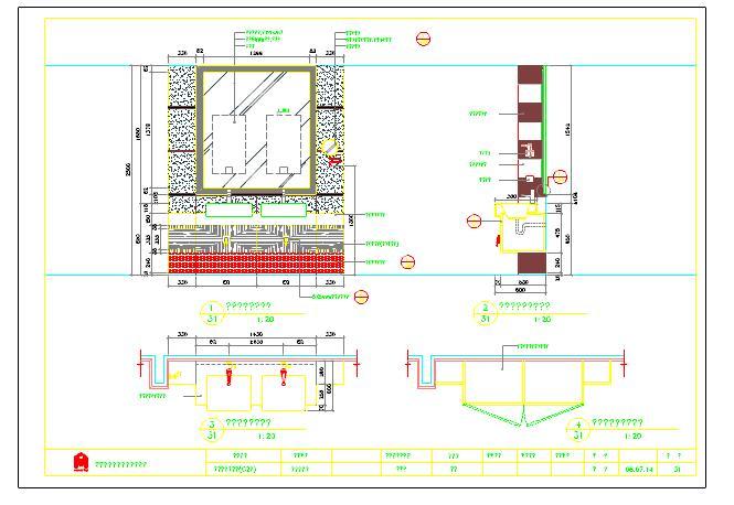住宅装修设计卫生间大样图cad图纸(非常全面)图片1