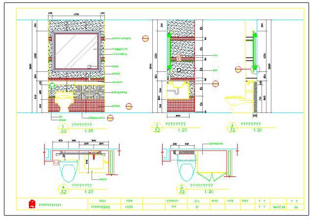 住宅装修设计卫生间大样图cad图纸(非常全面)图片2