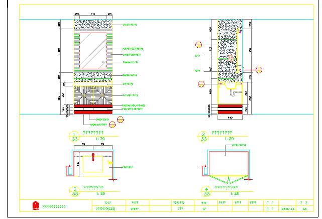 住宅装修设计卫生间大样图cad图纸(非常全面)图片3