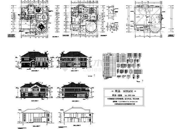 某小区二层楼别墅3D模型设计方案图-图1