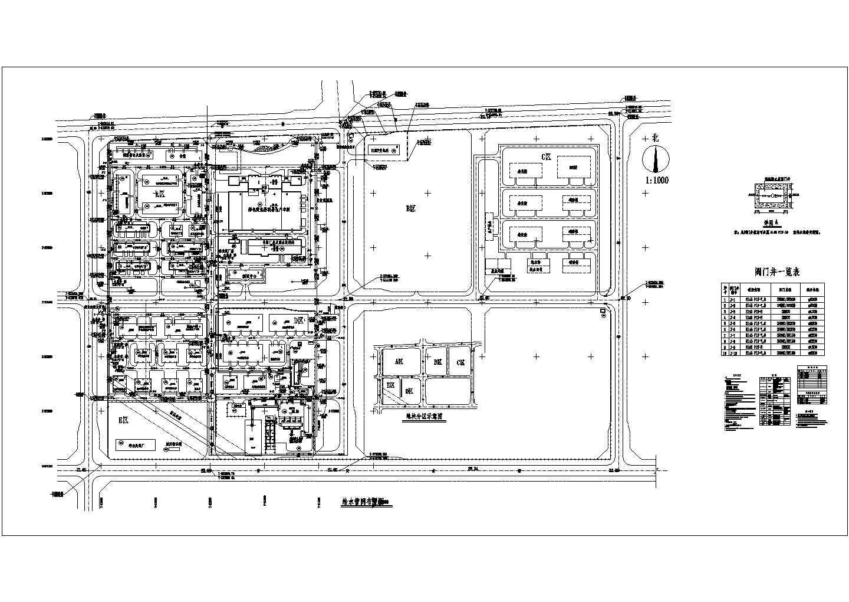 某化工厂室外给排水管道平面布置图(共3张)图片1