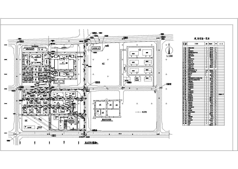某化工厂室外给排水管道平面布置图(共3张)图片3