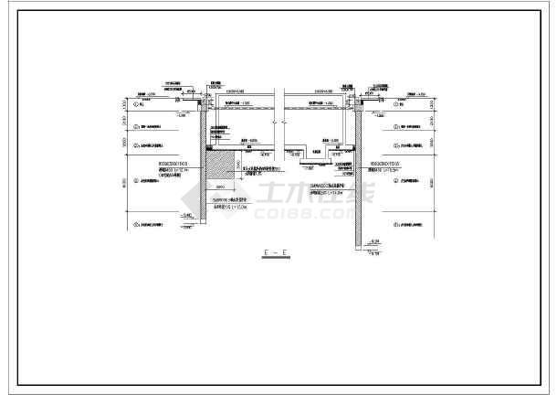某工程深基坑SMW工法搅拌桩支护全套结构施工图-图2