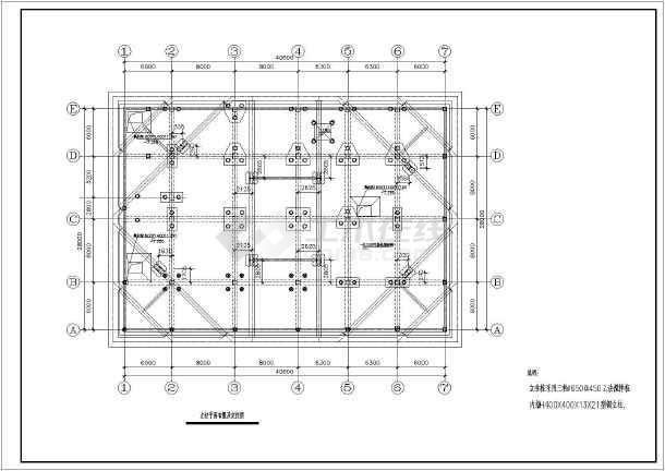 某工程深基坑SMW工法搅拌桩支护全套结构施工图-图3