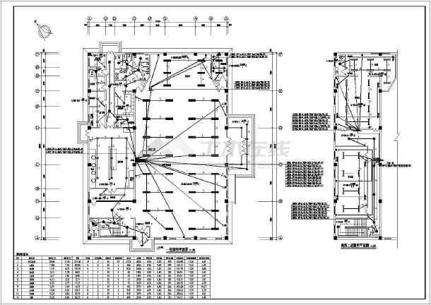 某餐厅会堂电气图纸-图2