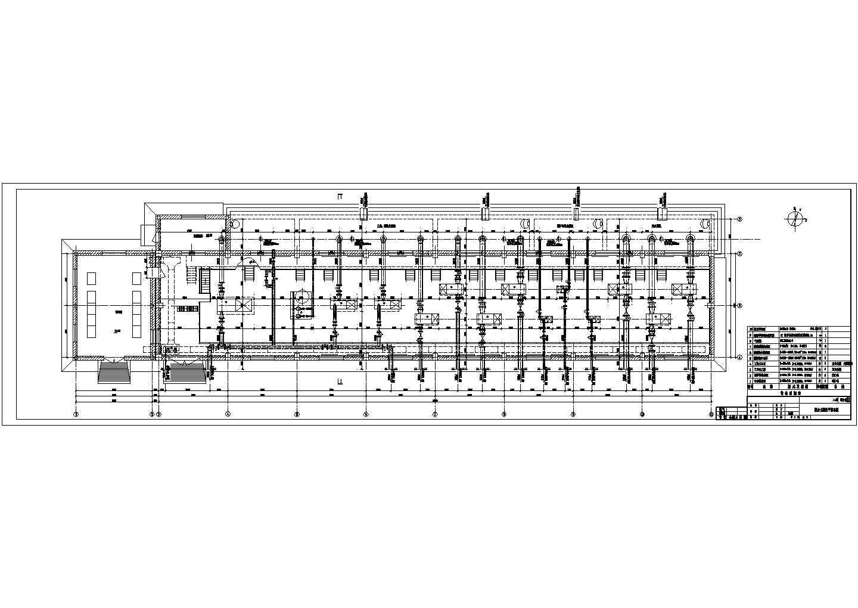 某工厂用水综合水泵房平面图纸说明图片1