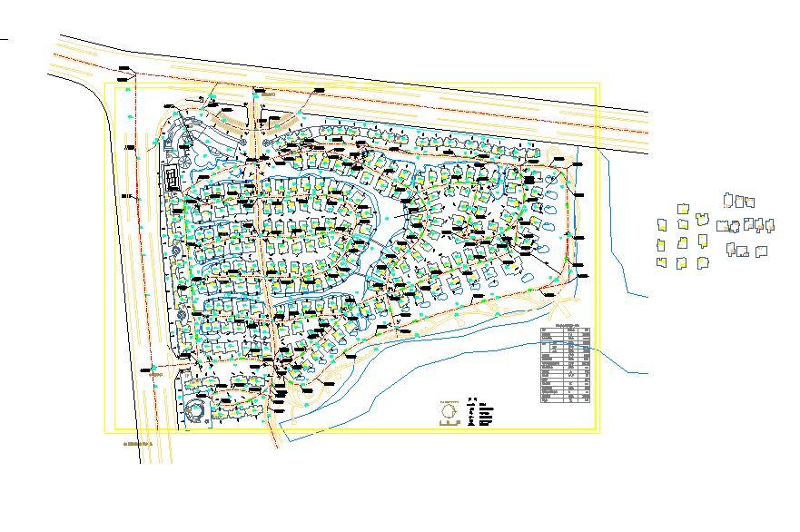 某地小型嘉源别墅园林景观设计总规划图图片1