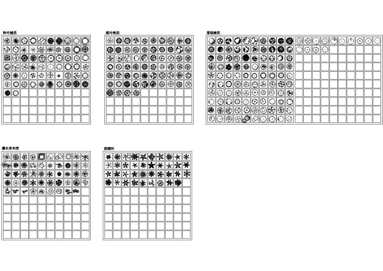 300多种CAD平面植物图块图片1