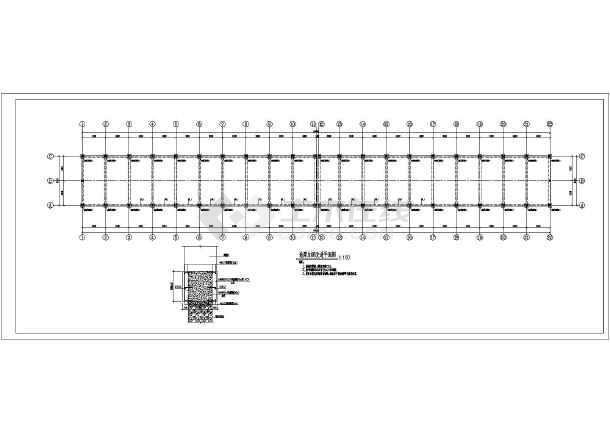 某地小型框架结构加固图纸-图2
