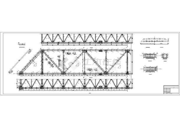 灰管桥50米钢桥结构构造设计图纸-图二