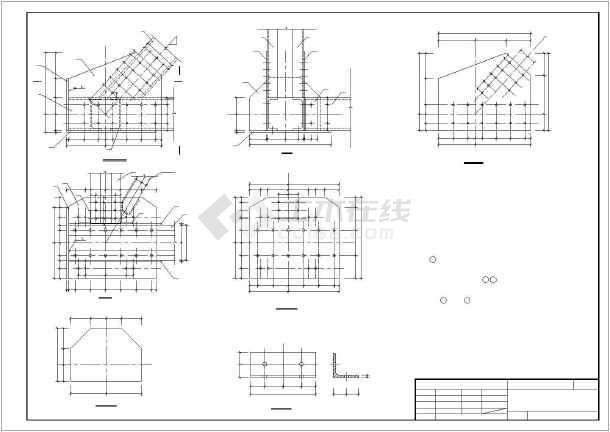 灰管桥50米钢桥结构构造设计图纸-图3