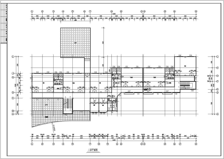 某幼儿园屋顶平面图、教室剖面图(CAD图)图片2