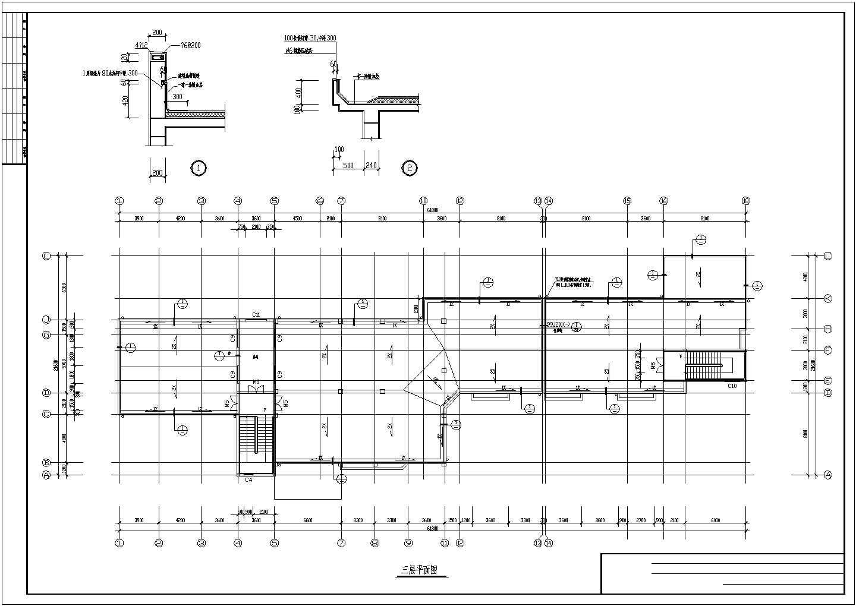 某幼儿园屋顶平面图、教室剖面图(CAD图)图片3