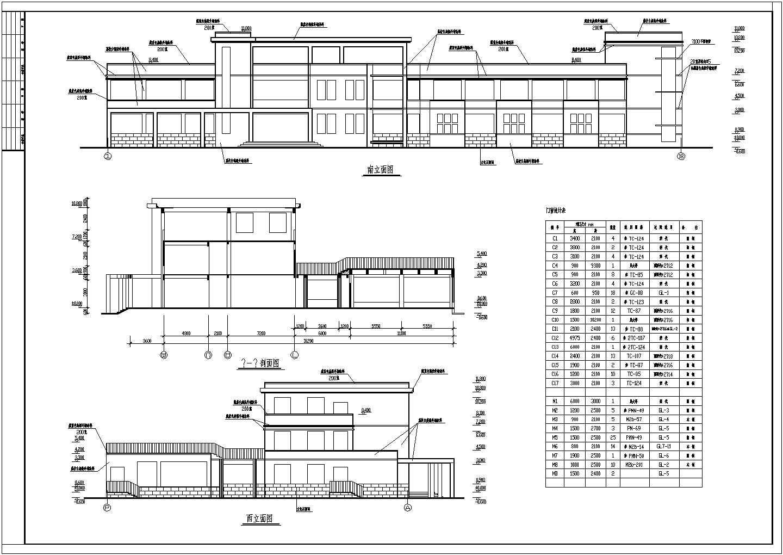 某幼儿园屋顶平面图、教室剖面图(CAD图)图片1