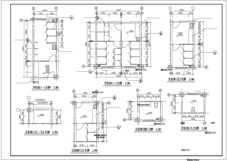 楼梯、电梯、卫生间大样图(共4张)图片2