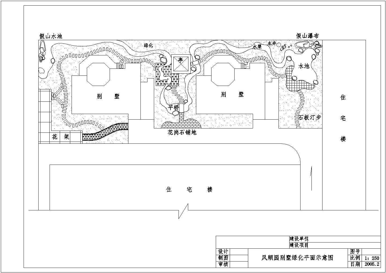 某地区别墅景观绿化平面施工图(共6张)图片3