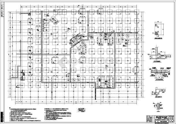 点击查看经典地下大商业结构施工图第2张大图