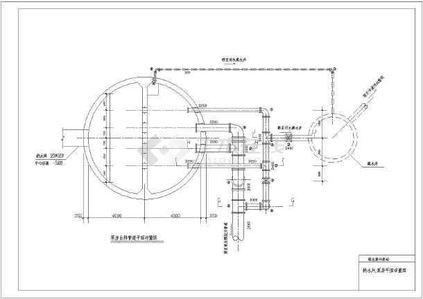 某小型市政雨水提升泵站给排水施工图-图3