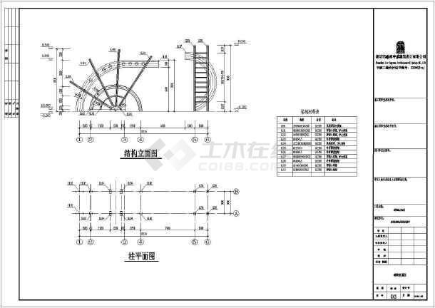 贵州某单层钢结构大门全套结构施工图-图二
