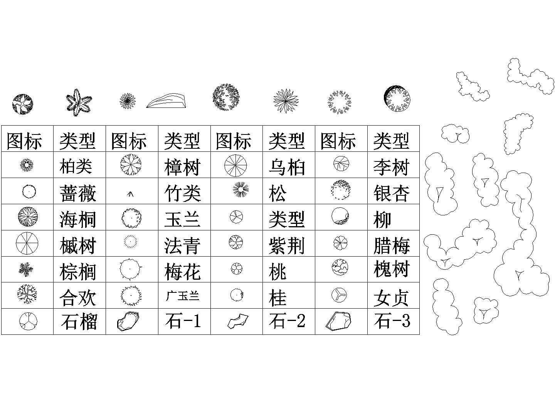 几百种建筑景观设计CAD常用植物图块图片2