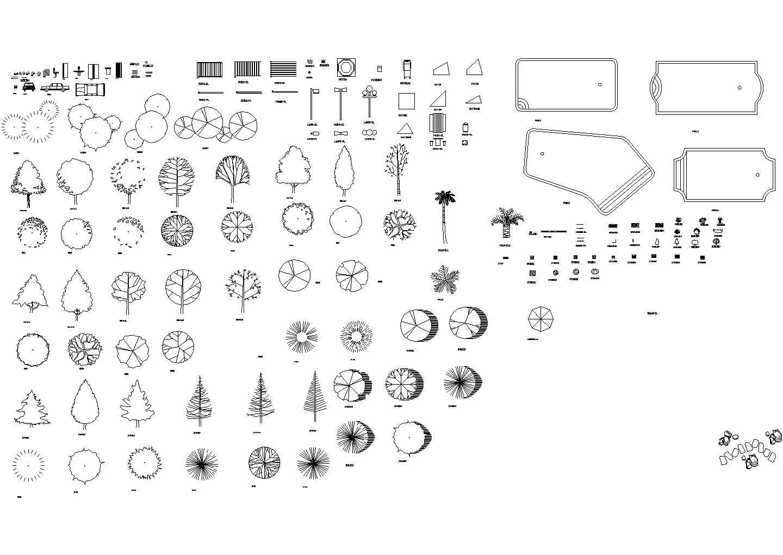 几百种建筑景观设计CAD常用植物图块图片3