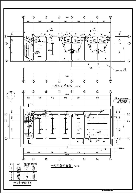 某地三层办公楼电气施工图纸,共9张图片3