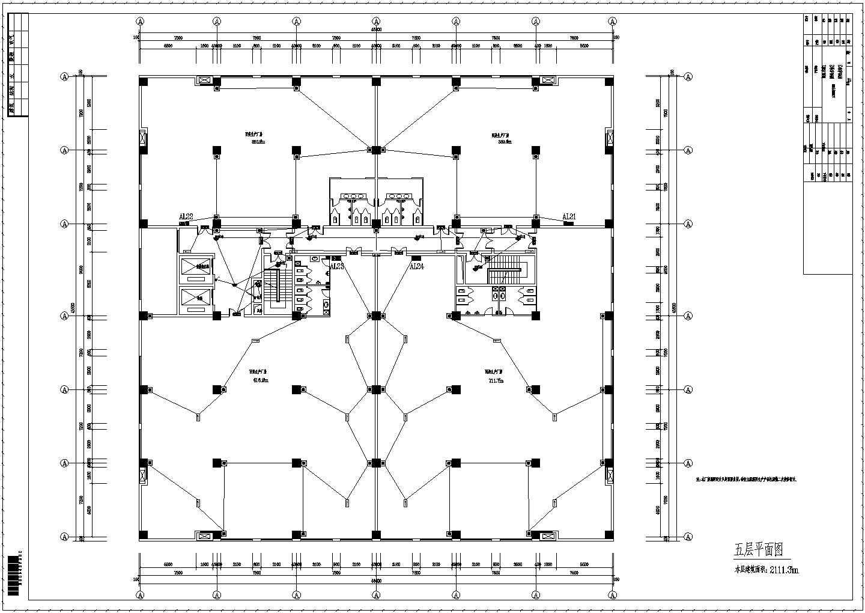 【河南】五层钢结构厂房电气施工图纸图片1