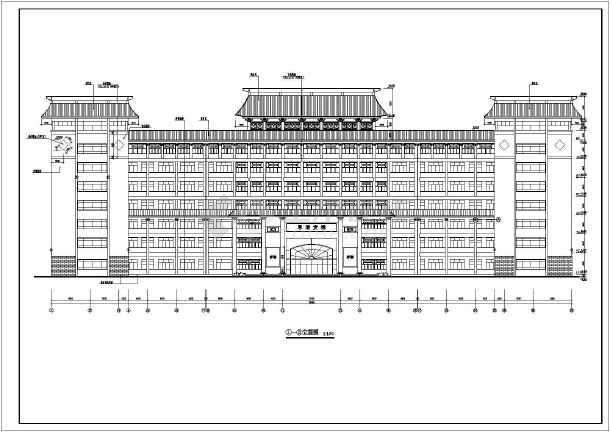某地区某中学教学楼方案设计图图片