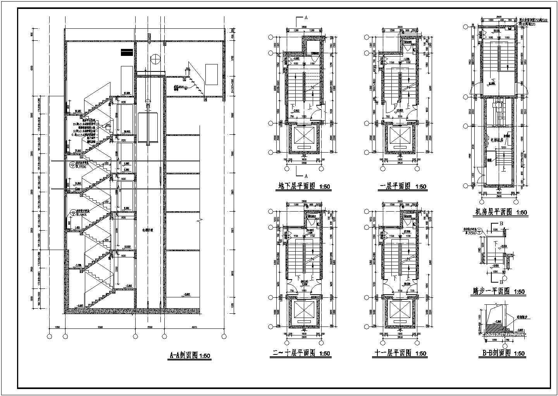 某详细的楼梯大样和门窗大样图(共4张)图片1